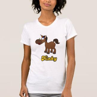 T-shirt Libertin : Licorne noire avec l'Afro