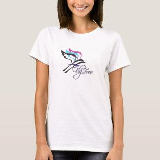 T-shirt libre de V-Cou de dames de mouche