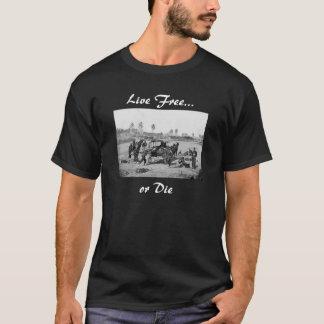 """T-shirt """"Libres vivants ou meurent"""" chemise de guerre"""