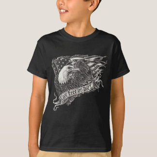 T-shirt Libres vivants ou meurent Eagle