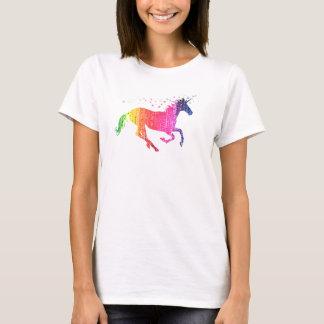 T-shirt Licorne de rose d'arc-en-ciel