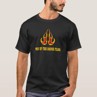 T-shirt Ligne chemise de bottes de flamber de danse