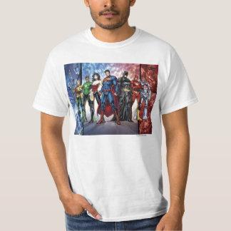 T-shirt Ligne de ligue de justice 52 de la ligue de