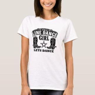 T-shirt Ligne fille de danse