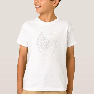 T-shirt Lignes de tourbillonnement abstraites de complexe