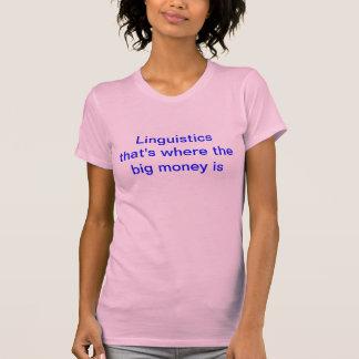 T-shirt Linguistique - qui est où le grand argent est