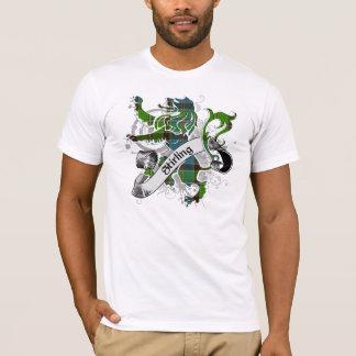 T-shirt Lion de tartan de Stirling