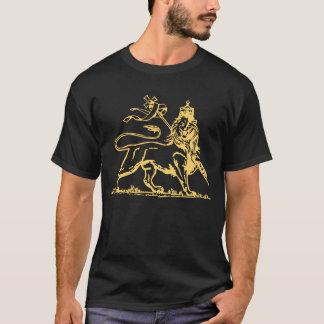 T-shirt Lion éthiopien de dos de Judah/croix dessus