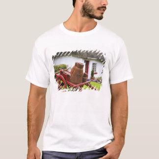 T-shirt L'Irlande, Adare. Récipients en métal sur le
