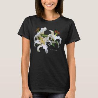 T-shirt Lis orientaux blancs élégants de Casablanca