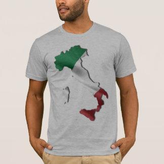 T-shirt L'Italie et la chemise italienne de drapeau