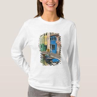 T-shirt L'Italie, Venise, Burano. Maisons multicolores le