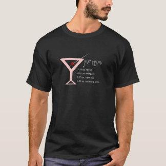 T-shirt L'obscurité de l'homme rose de Martini