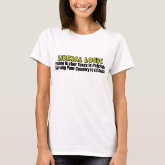 T-shirt Logique libérale : Paiement des impôts plus élevés