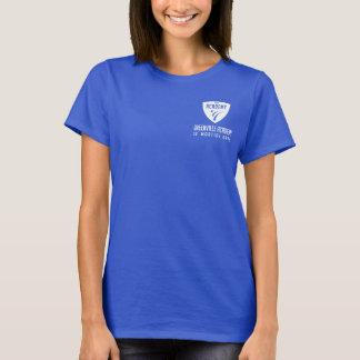 T-shirt Logo blanc d'épaule de bouclier d'académie de