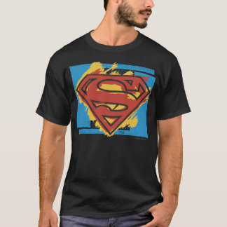 T-shirt Logo bleu d'arrière - plan peint par | de