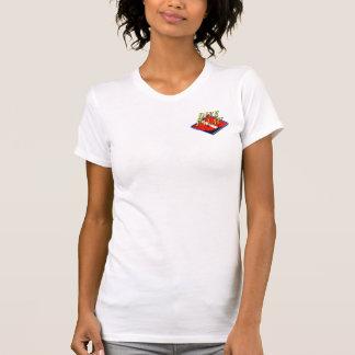 T-shirt Logo de la poche des femmes des Palaos de piqué