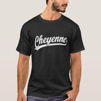 T-shirt Logo de manuscrit de Cheyenne dans le blanc