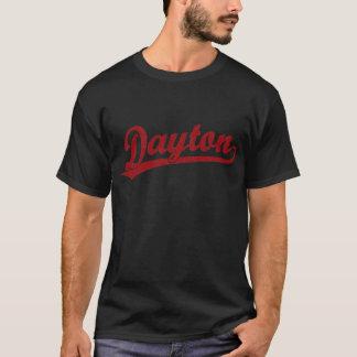T-shirt Logo de manuscrit de Dayton en rouge