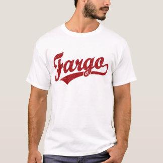 T-shirt Logo de manuscrit de Fargo en rouge