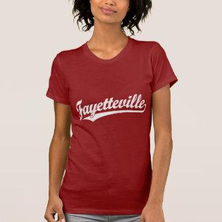 T-shirt Logo de manuscrit de Fayetteville dans le blanc
