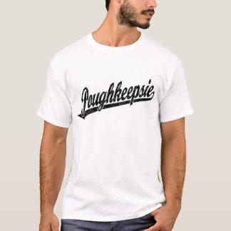 T-shirt Logo de manuscrit de Poughkeepsie dans le noir