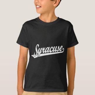 T-shirt Logo de manuscrit de Syracuse dans le blanc