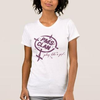 T-shirt Logo de pourpre de chemise de PMS