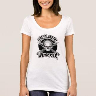 T-shirt Logo de travailleur de tôle