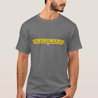 T-shirt Logo d'or d'ailes de Wingman