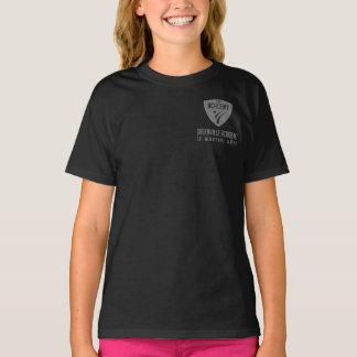 T-shirt Logo gris d'épaule d'académie de Greenville