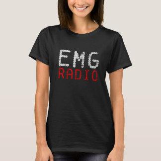 T-shirt Logo par radio de l'EMG des femmes - rouge, blanc,