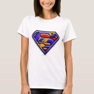 T-shirt Logo pourpre d'aerographe du S-Bouclier | de
