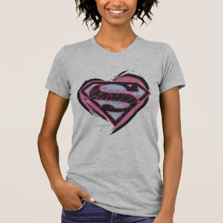 T-shirt Logo rose de Supergirl au coeur