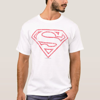 T-shirt Logo rouge d'ensemble du S-Bouclier | de Superman