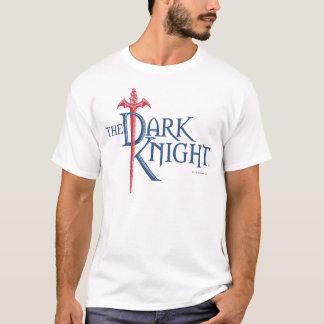 T-shirt Logo rouge nommé foncé d'épée du chevalier | de