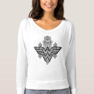 T-shirt Logo spirituel de Paisley Hamsa de femme de