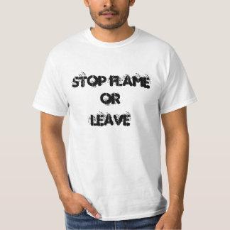 t-shirt logo stop flame