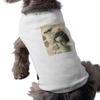 T-shirt L'oiseau d'art déco scripts la grande fille gatsby