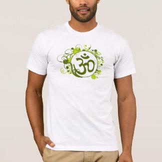T-shirt L'OM floral vert bouddhiste
