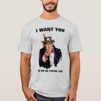 T-shirt L'Oncle Sam font pendant qu'on vous dit la chemise