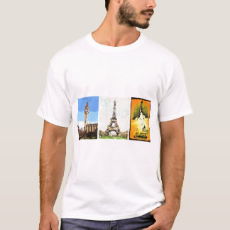 T-shirt Londres, Paris, New York