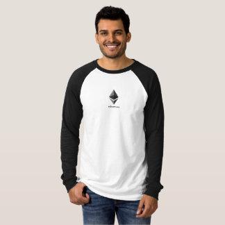 T-shirt Long-douille de logo d'Ethereum