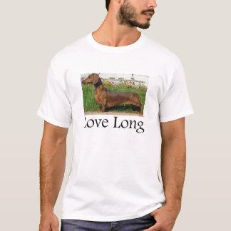 T-shirt Long teckel d'amour