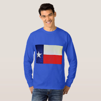 T-shirt Long tee - shirt de drapeau du Texas de la douille