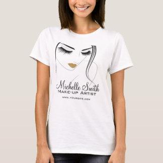 T-shirt Longs prolongements de mèche de mèches de visage