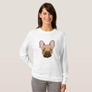 T-shirt Longue douille de bouledogue français