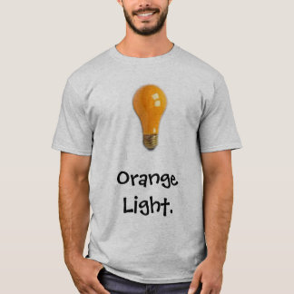 T-shirt Longue douille T de lumière orange