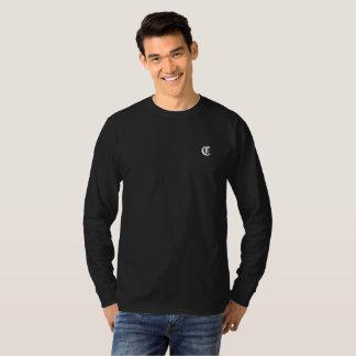 T-shirt Longue pièce en t civilisée de douille de logo