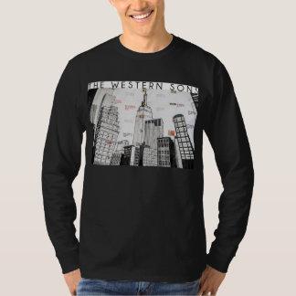 T-shirt Longue pièce en t de douille de fils occidentaux